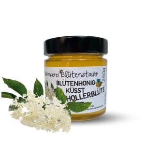 Bio Blütenhonig küsst Hollerblüte 250g von Bio-Imkerei Blütenstaub