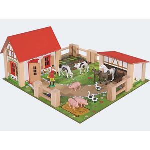 Eichhorn Bauernhof 2 Gebäude, Figuren Zaun 36x39cm - 100004304