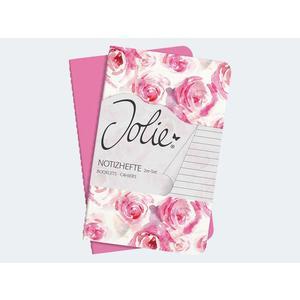 2 Notitzhefte 91x146x5mm 80gr. liniert Pink Rose - JN700