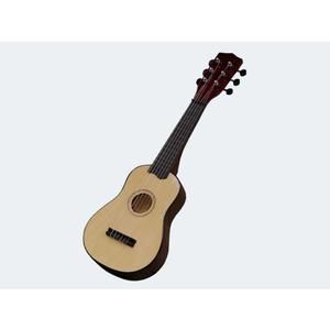 Concerto Gitarre 55cm Holz natur incl. Plectrum - 73509(701201)