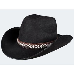 Cowboyhut Kinder schwarz - 54369