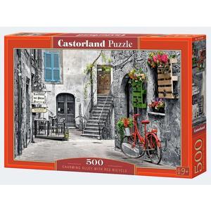 Puzzle 500T Gasse mit Fahrrad Castorland - 4438053339