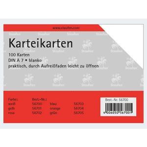 Karteikarten A7/100 weiss blanco - 56700