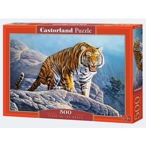 Puzzle 500T Tiger on the Rocks Castorland - 4438053346