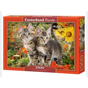 Puzzle 1500T 2 Katzen Castorland - 4438151899