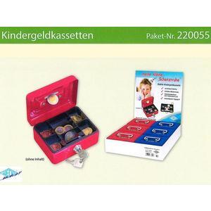 6 Kindergeldkassetten Kleine Schatztruhen sort - 220055