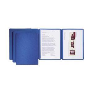 Bewerbungsmappe blau mit 2 Klemmschienen - 22003-02