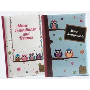 Freundebuch Eulen sort - 43043