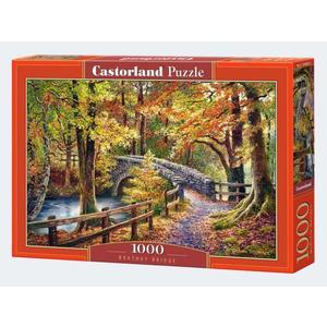 Puzzle 1000 Teile Steinbrück im Wald Castorland - 4438104628