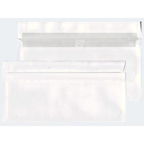 100 Briefhüllen DIN Lang weiss 70g sk m Fenster - 22542/0
