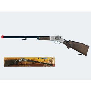8-Sch Gewehr 68cm schwarz silber Metall - 1195/0