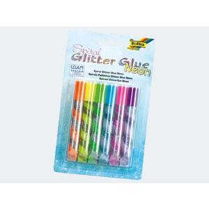 Glitter Glue Spiral Neon 6 Stifte je 10,5ml - 576
