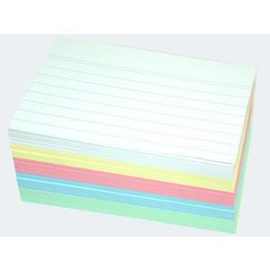Karteikarten A7/200 5-fach farbig sortiert liniert - 56716