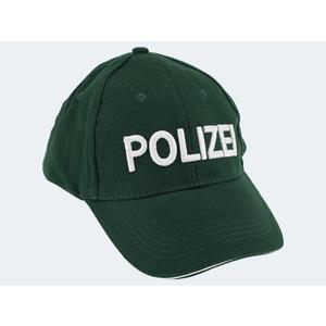 Polizeikappe deutsch grün - 35741A