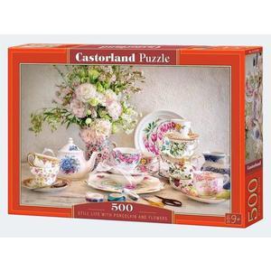 Puzzle 500T Stillleben mit Porzellan Castorland - 4438053384