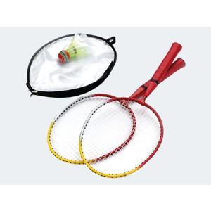 Federballset für Kinder 2 Schläger 1 Ball Hülle - 74171
