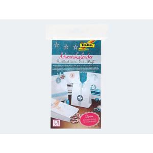 Adventskalender-Set weiss 24 lebensmittelechte Tüt - 9401