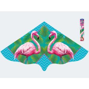 Drachen Flamingo 115x63cm mit Schnur - 1108