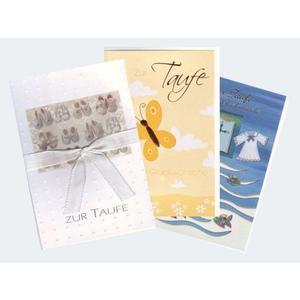 10 Taufe Karten sortiert