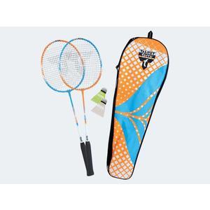 Badmintonset Schildkröt Attacker 2Schläger 3Bälle - 449402