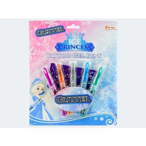 5 Gelstifte Eisprincess Glitter 11cm Blk - 45650