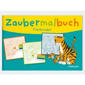 Zaubermalbuch Tierkinder3J 32S 17x24cm - 4141-2