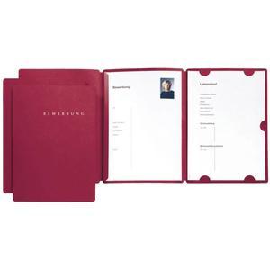 Bewerbungsmappe Select rot mit Schiene - 22002-01
