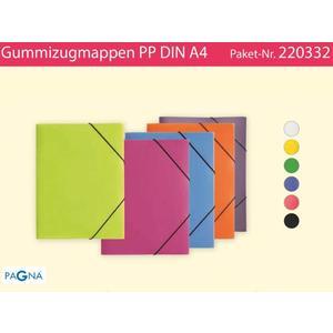 12 Gummizugmappen A4 PP - 220332