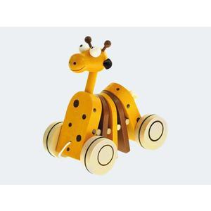 Nachzieh Giraffe 16cm Holz - 90987