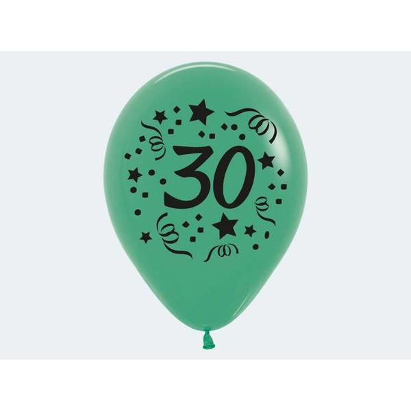 """7 Luftballon """"30"""" bunt 30cm - 12423"""