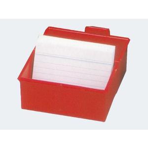 Karteikasten A5 quer rot für 300 Karteikarten - 975-17