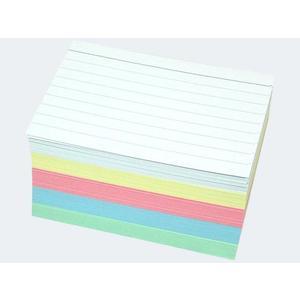 Karteikarten A8/200 5-fach farbig sortiert liniert - 56806