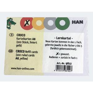 Karteikarten Croco A8 liniert - 9812