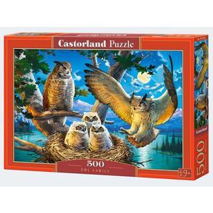 Puzzle 500T Eulen Familie Castorland - 4438053322
