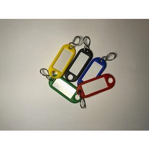 Schlüsselanhänger - mit Aufhängeloch, Kunststoff 10 Farben je 5 Stück