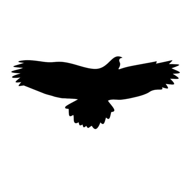 Aufkleber Bussard,Vogelaufkleber für Fenster, Wintergärten, Glashäuser zum Vogelschutz, Warnvogel Vogel-Silhouetten, Schutz vor Vogelschlag 65x155