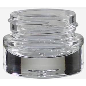 KOSMETIK GLASTIEGEL 15ML, KLARGLAS, SCHWERER BODEN Döschen,Cremedöschen 10 Stück inkl.Deckel,Kosmetikglas
