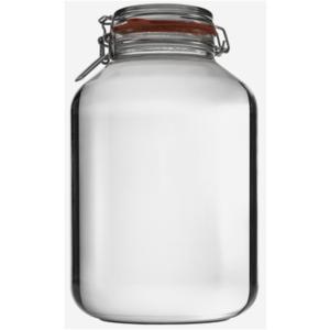 DRAHTBÜGELGLAS 4880ML, Weißglas, RUND, Rexglas, Gewürzglas,Einmachglas