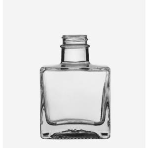 Glasflasche 200ML, WEIßGLAS, 5 Stück inkl. Schraubverschluss Holz/Alu Glasflasche Leerflasche