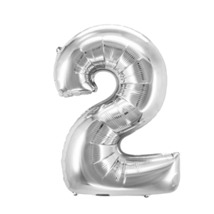 "Folienballon ""Zahl 2"", silber, ca. 83cm, 1 Stk.Riesige Folienballon Zahl Geburtstagsdeko, Deko Geburtstag Folienluftballons Birthday Helium Zahlenballon Luftballon Geburtstag"