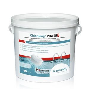 Chlorilong Power5 Tabletten 250g - 5kg Eimer - Wasserpflege mit Chlor