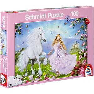 Puzzle Prinzessin der Einhörner 100T