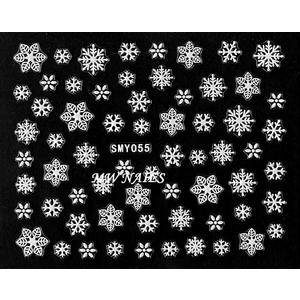 Sticker Schneeflocken weiß SMY055
