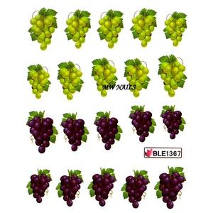 Nail Sticker Weintrauben BLE1367