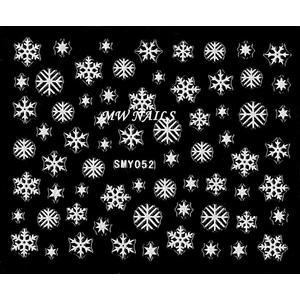Sticker Schneeflocken weiß SMY052