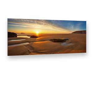 Ebbe in Cornwall (Großbritannien) Panorama Alu-Verbund Art Print (90 x 40 cm)