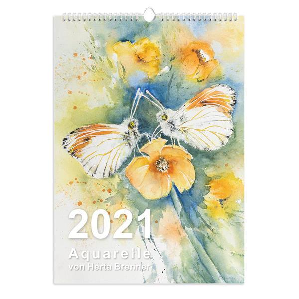 A3 Wand-Kalender Aquarelle von Herta Brenner