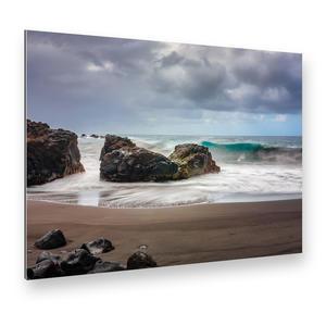 Wilder Strand auf Teneriffa (Kanarische Inseln), Alu-Verbund Art Print (42 x 29 cm)