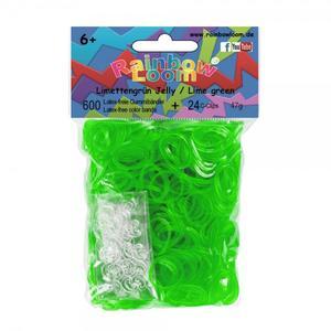 (68) Rainbow Loom® Gummibänder Limettengrün Jelly