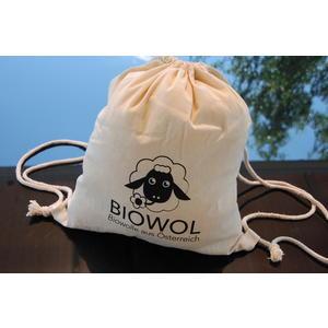 Bio-Heilwolle/Fettwolle aus österreichischer Bio-Schafschurwolle (kbT), 300 g im Baumwollbeutel (fair hergestellt)
